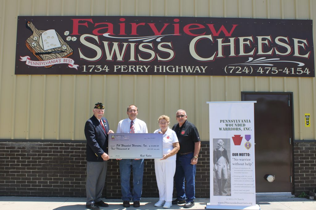 Fairview Swiss Cheese PA Wounded Warriors Check Presentation